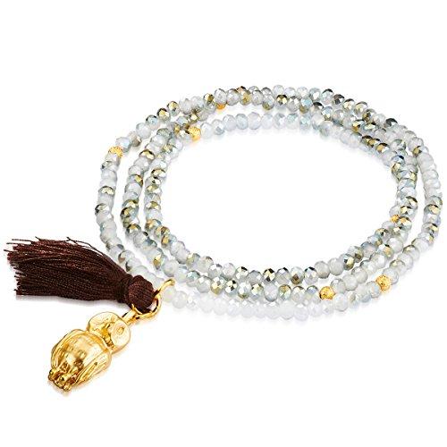 Lulu & Jane - Bracciale fashion a forma di gufo con cristallo - in diverse lunghezze, Bracciale con cristallo, Bracciali - 60917010