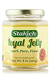 Stakich FRESH ROYAL JELLY 8 oz - 100% Pure, All Natural, Top Quality -