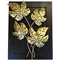 Crafticia Craft Traditional Handicraft Unique Hanging Metal Leaf Tealight Candle Holder Decorative Showpiece Item...