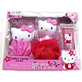 Hello Kitty Tub Time Friends 3 Pcs Bath Gift Set - Cotton Candy Scented