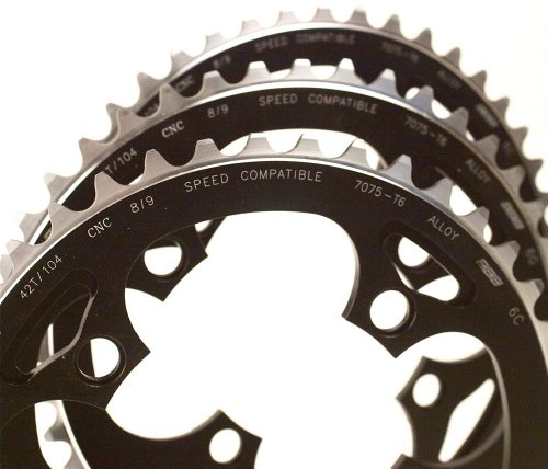 BBB Chainring RoundAbout 4 BCR-04 black silver (B005ESQNPO)