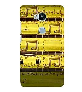 PrintVisa Music Notes 3D Hard Polycarbonate Designer Back Case Cover for Huawei Honor 5X