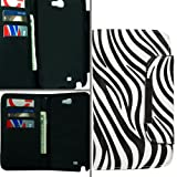 Zebra Leather Wallet Pouch Cover Case For Samsung Galaxy Note 2 N7100