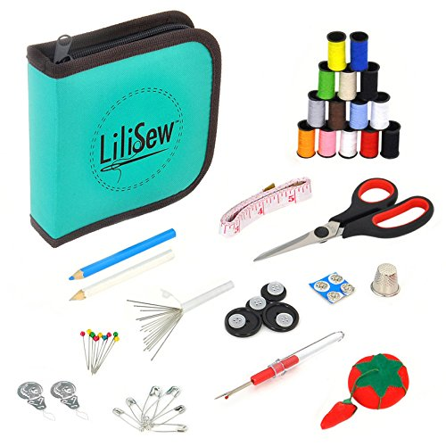 Lowest Prices! LiLiSew Hand Sewing Kit Compact with Notions,Supplies,Accessories for Beginners