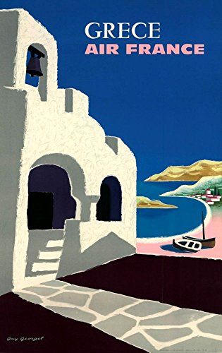 air-france-grece-wonderful-a4-glossy-art-print-taken-from-a-rare-vintage-travel-poster