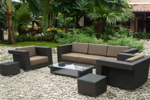 The Isadora Collection All Weather Wicker Patio Furniture Deep Seating Set