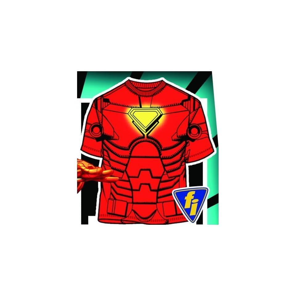 Mens Iron Man Costume T Shirt Large Size