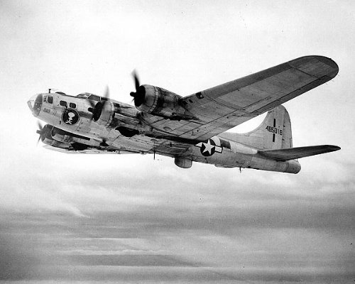 B-17 / B-17F Flying Fortress Bomber WWII 8x10 Silver Halide Photo Print