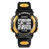 Bestpriceam 1pc Mens Boys Waterproof Sports Digital LED Alarm Date Rubber Band Wrist Watch Orange