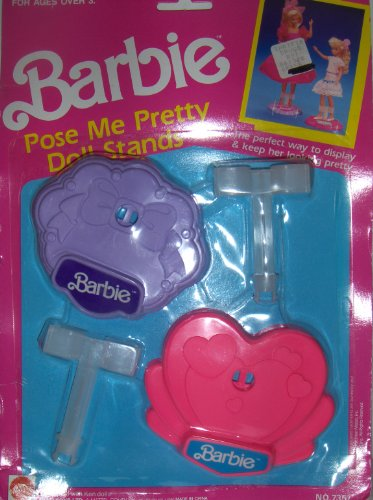 Barbie Pose Me Pretty Doll Stands Pink & Purple