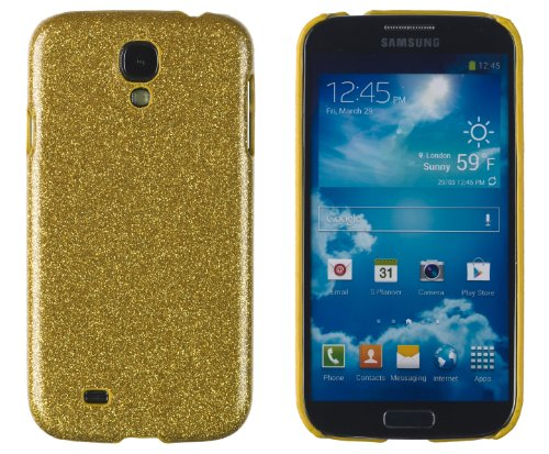 Premium Sparkles Bling Slim Hard Case For Samsung Galaxy S4, I9500 - Sparkles Can'T Fall Off - [Retail Packaging By Dandycase With Free Lcd Screen Cleaner] (Gold)