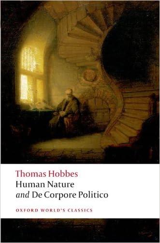 Human Nature and De Corpore Politico (Oxford World's Classics) (Pt. 1)