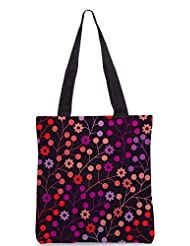 Snoogg Seamless Pattern With Leaf Copy That Square To The Side And Youll Get Seaml Designer Poly Canvas Tote Bag - B012FZ2Q8G