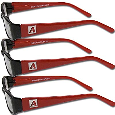 MLB Arizona Diamondbacks Adult Reading Glasses (3-Pack), Red