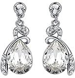Arco Iris Jewelry 1144101 Boucles d'oreilles goutte avec cristal Swarovski Transparent Pierre de taille moyenne