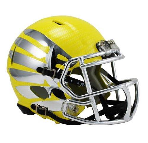 lightning hydroskin yellow chrome riddell speed mini helmet ebay. Black Bedroom Furniture Sets. Home Design Ideas
