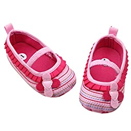Mosunx Toddler Infant Baby Winter Cute Shoes Soft Sole Crib Boots Prewalker (12, Pink)