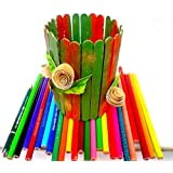 Set Of Fun And Colorful Popsicle / Ice-cream / Candy / Lollypop Sticks - For Art And Craft, Decoration And Other...