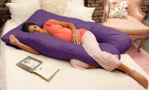 Naomi Home Cozy Body Pillow, Royal Purple