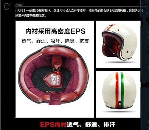 Size M Stripe Fashion Brand Beon Motorcycle Helmet Vintage Scooter Open Face Helmet Retro 3/4 Capacete Gfrp Material Cascos Ece Approved beon vintage off road motocross men feminino motorcycle helmet vespa casco capacete open face capacetes motociclistas b 110