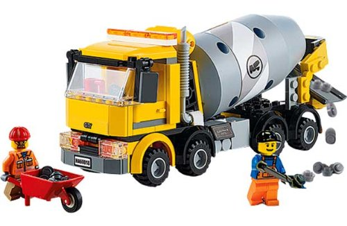 Lego City Cement Mixer Playset 60018 With Accompanying Storage