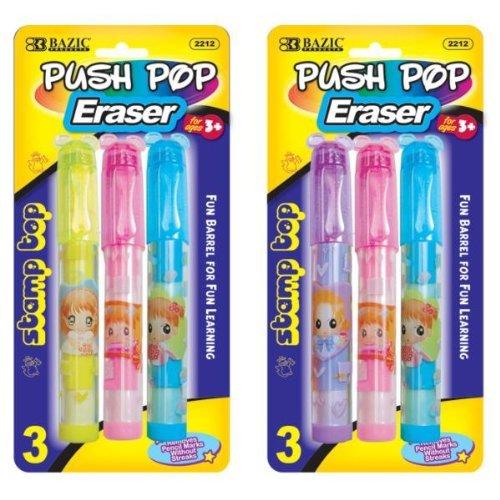 push pop erasers