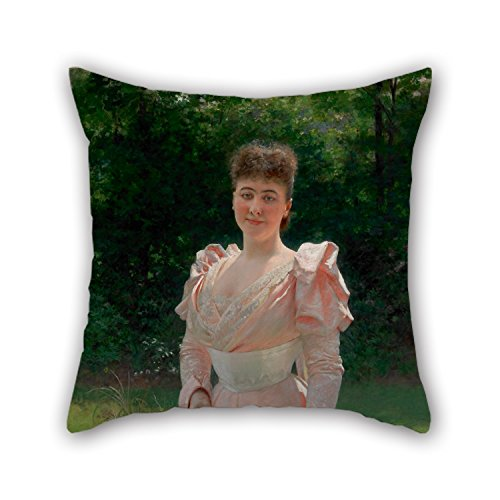 PILLO 16 X 16 Inches / 40 By 40 Cm Oil Painting Vlaho Bukovac - Mrs Richard Le Doux Throw Pillow Covers Twice Sides Is Fit For Adults Teens Car Indoor Coffee House Kids Boys (Mrs Lincoln Rival compare prices)