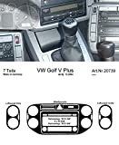 Richter 207 39/93 (DE) Innenraum Set Vw Golf V Plus 12/04-(DE) 7 D Rcd300 Aluminium