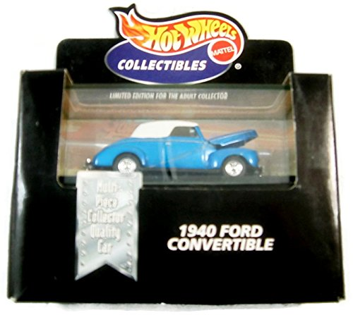 Hot Wheels Collectibles 1940 Ford Convertible (Blue) - 1