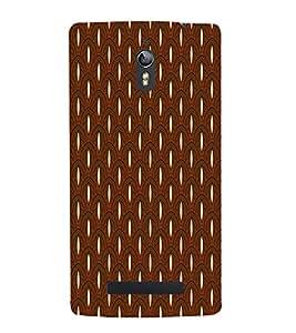 Brown Color Pattern Design 3D Hard Polycarbonate Designer Back Case Cover for Oppo Find 7