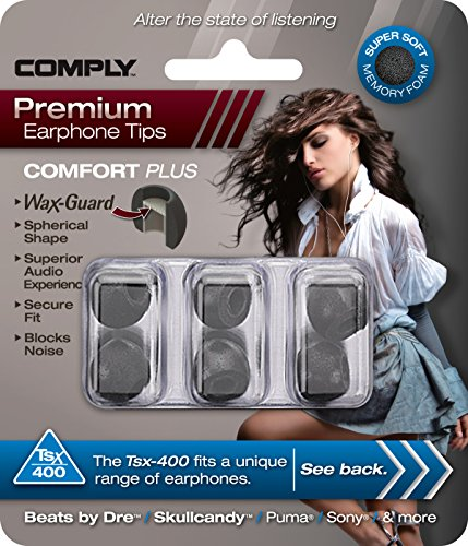 COMPLY (コンプライ) イヤホンチップ Tsx-400 ブラック Mサイズ 3ペア (並行輸入品)