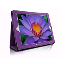SANOXY® Slim FOLIO Folder PU Leather Stand Case for iPad 2/3/4 /ipad 2nd Generation (PURPLE FOLIO) from SANOXY