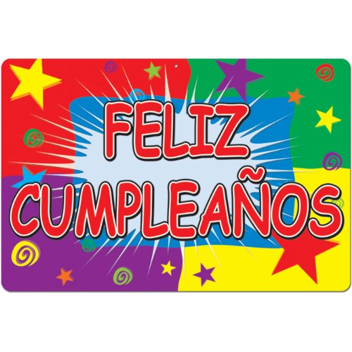 Feliz Cumpleanos Sign Party Accessory (1 count)
