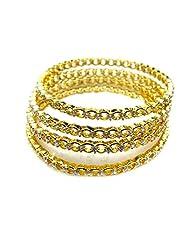 Poddar Jewels Cubic Zirconia 4 Pcs Bangle Set (Size 2.8)