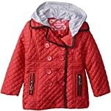 Dollhouse Little Girls'  Quilted Jacket with Removable Hood