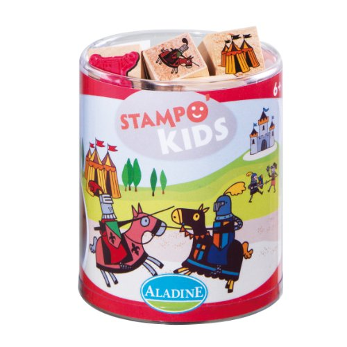 Aladine 3003332 - Stampo Kids Ritter, 16-teilig