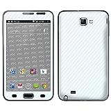 """atFoliX Designfolie """"FX-Carbon-Bicolor-Pearl"""" f�r Samsung Galaxy Note (GT-N7000) - ohne Displayschutzfolievon """"Designfolien@FoliX"""""""