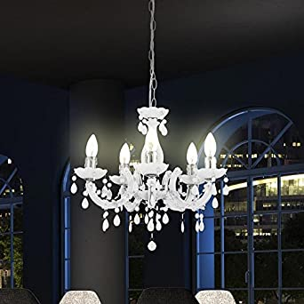kronleuchter 5 flammig farbe acryl da486. Black Bedroom Furniture Sets. Home Design Ideas