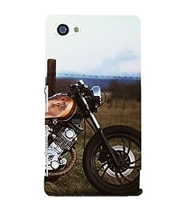 Royal Bike 3D Hard Polycarbonate Designer Back Case Cover for Sony Xperia Z5 Compact :: Sony Xperia Z5 Mini