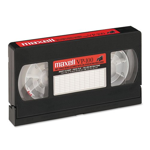 Maxell® – Cleaning VHS Tape Cartridge – Sold As 1 Each – Low friction, dry cleaning cassette cleans tape heads and entire tape path.
