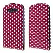 ECENCE Samsung Galaxy S3 i9300 S3 Neo i9301 Coque de protection Housse Pochette r�tro rouge � pois blanc flip Case + protection d'�cran 22030302