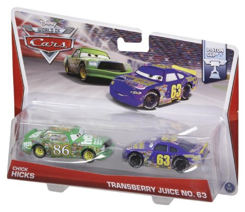 Disney World of Cars Diecast Vehicle 2-Pack: Chick Hicks & Transberry Juice No. 63