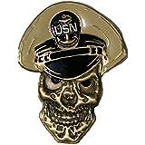 "U.S. Navy Chief Petty Officer Skull Challenge Coin 2.5"""