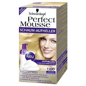 Schwarzkopf Perfect Mousse Schaum-Aufheller Nr. 1100 Medium Aufheller Aufhellen so einfach wie ...