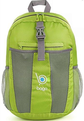 Packable Zaino per gli uomini, donne e bambini - Leggeri pieghevole Zaino - Usa come borsa da viaggio, Daypack, vai avanti per avere più spazio bagagli - si ripiega in E 'Tasca interna Verde
