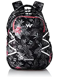 Wildcraft Polyester 47 Ltrs Black School Backpack (WC 9 Flora 6)