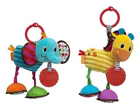 Infantino Pull & Play Jittery Pal Asstd Elephant/Giraffe - 1