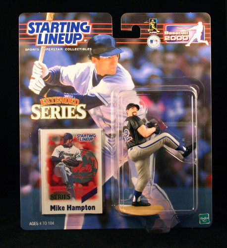 MIKE HAMPTON / NEW YORK NETS 2000 MLB Extended Series Starting Lineup Action Figure & Exclusive Collector Trading Card