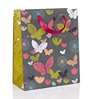 Butterflies & Floral Medium Gift Bag
