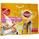 Pedigree Dry Puppy Dog Food, Chicken And Milk, 3 Kg With Dog Food, Gravy Chicken Rice, 320 G(Pack Of 4)